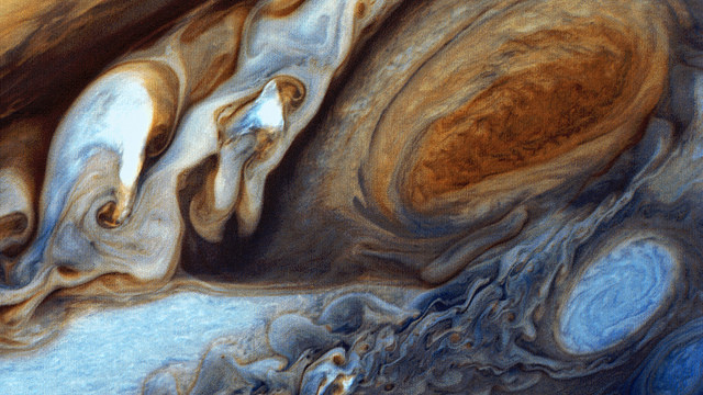 Voyager 1 took this photo of Jupiter's Great Red Spot in February 1979. (NASA)