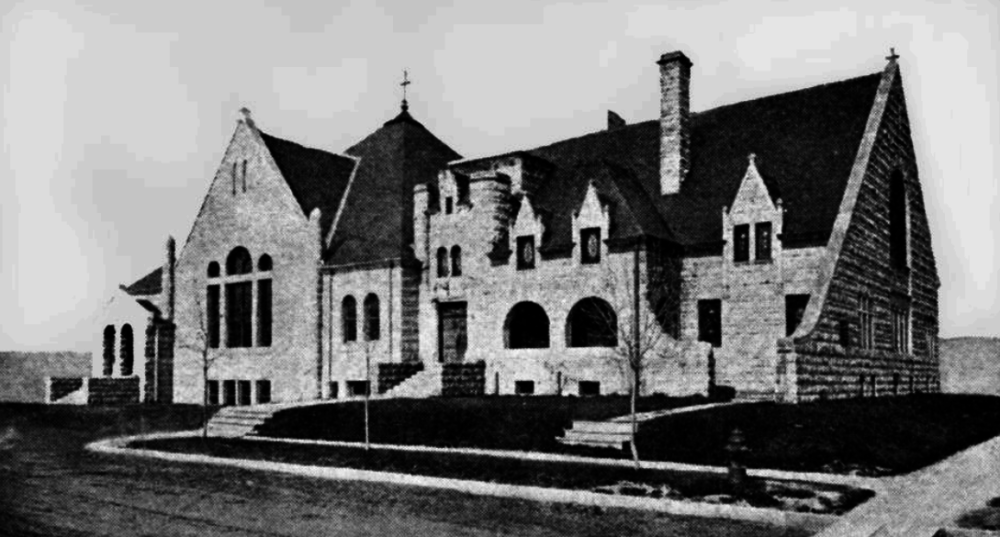 An early picture of 1400 Lafayette St. where the  First Unitarian Society of Denver is housed. (City and county of Denver)