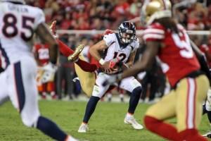 Paxton Lynch threw for 39 yards Saturday. (Sergio Estrada/USA Today Sports)