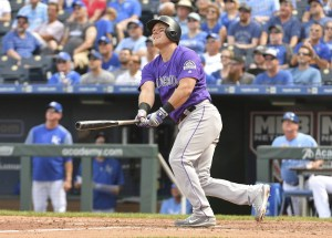 Pat Valaika's late HR lifted the Rockies past the Royals. (Denny Medley/USA Today Sports)