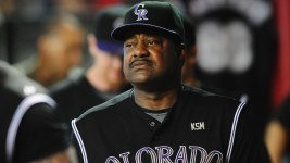 Don Baylor, pictured here as the Rockies hitting coach in 2010, died Monday at the age of 68. (Mark J. Rebilas/USA Today Sports)