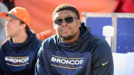 Denver Broncos tackle Ryan Clady (78) before a game against the San Diego Chargers at Sports Authority Field at Mile High. Jan 3, 2016; Denver.  (Ron Chenoy/USA TODAY Sports)