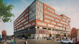 A rendering of The HUB office building planned for 3601 Walnut Street. (Courtesy of Beacon Capital Partners and Elevation Development Group)