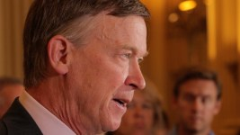 Governor John Hickenlooper speaks at a press conference on the possible repeal of Deferred Action for Childhood Arrivals, known as DACA, Sept. 1, 2017. (Kevin J. Beaty/Denverite)