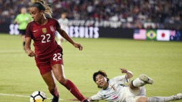 Mallory Pugh made the U.S. women's national team's 22-player roster for their game in Colorado later this month. (Kelvin Kuo/USA Today Sports)