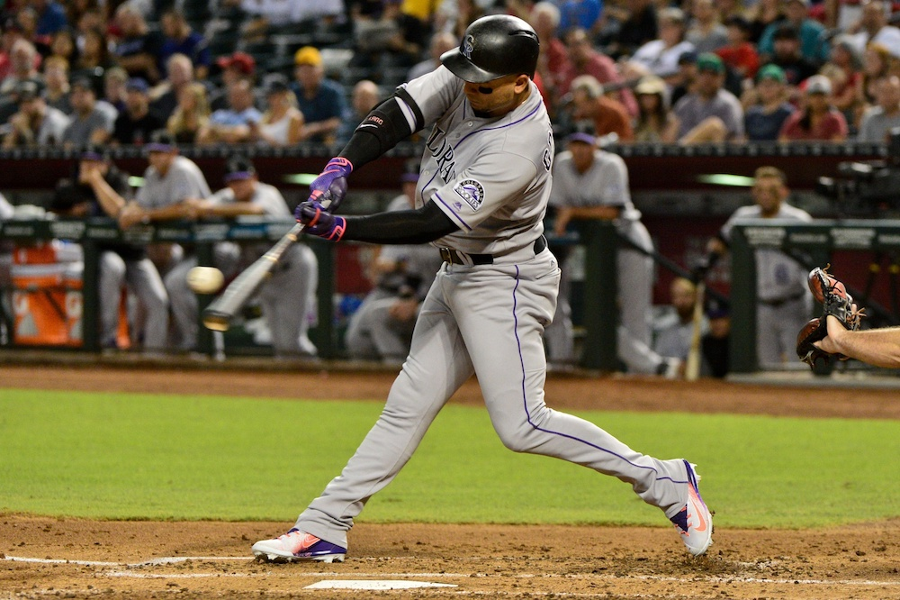Carlos Gonzalez is finally figuring it out at the plate. (Mark Kartozian/USA Today Sports)