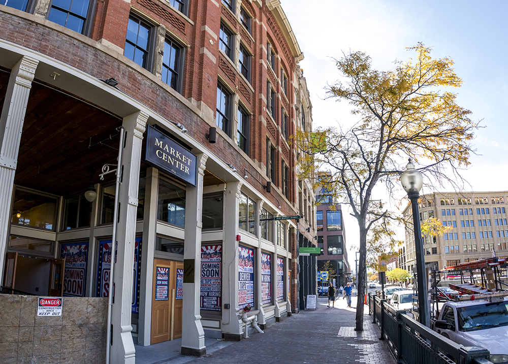 The site of a new Oscar Blues eatery on Market Street just off the 16th Street Mall, Oct. 17, 2017. (Kevin J. Beaty/Denverite)  denver; colorado; denverite; kevinjbeaty; development; restaurant; food; downtown;