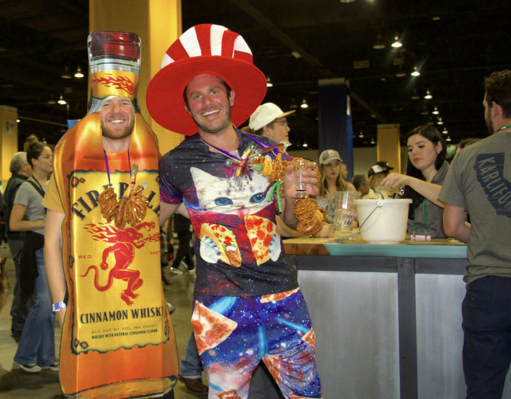 Jason Miller and Ian Miller of Denver at the Great American Beer Festival on Thursday, Oct. 5, 2017. (Paul Karolyi for Denverite)