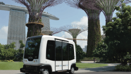 The EZ10, a driverless and electric shuttle that can transport up to 12 people. (Courtesy of city of Denver)