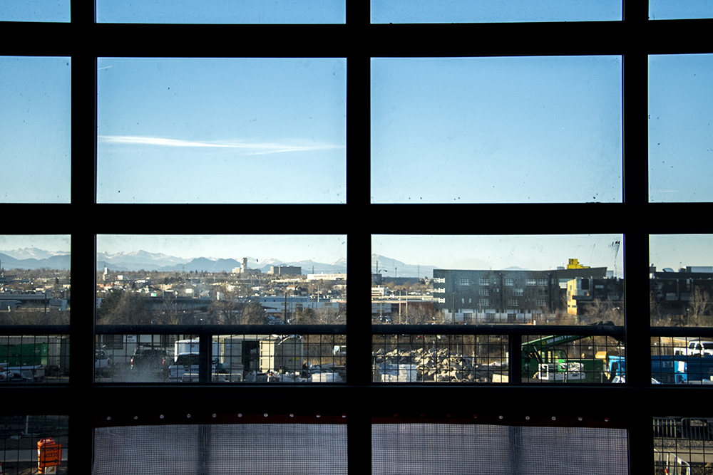Taxi campus seen from the future Source Hotel, Dec. 12, 2017. (Kevin J. Beaty/Denverite)  rino; five points; brighton boulevard; the source; development; construction; kevinjbeaty; denver; denverite; colorado;