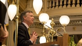 Governor John Hickenlooper's State of the State address, Jan. 11, 2017. (Kevin J. Beaty/Denverite)  copolitics; governor john hickenlooper; denver; colorado; denverite; kevinjbeaty;