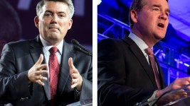 SenatorS Cory Gardner and Michael Bennet. (Kevin J. Beaty/Denverite)