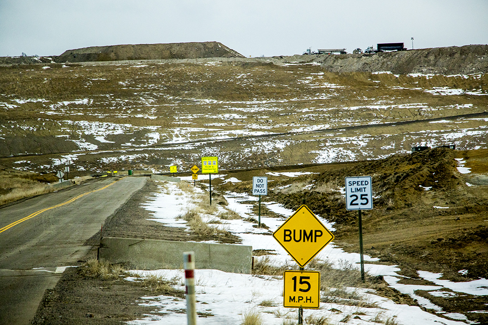 Section 32, the active site, is more than 250 feet tall. It's been active since 2001. Denver Arapahoe Disposal Site, the landfill owned by Denver and operated by Waste Management. Jan. 26, 2018. (Kevin J. Beaty/Denverite)  waste management; garbage; environment; trash; dump; landfill; denverite; kevinjbeaty; colorado; aurora;