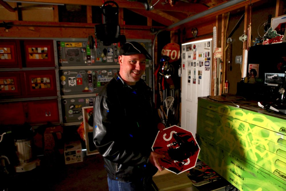 Dan Ericson at his home studio in Denver. (Andrew Kenney/Denverite)