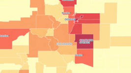 Population growth in Colorado, 2010 to 2017. (Andrew Kenney/Denverite)