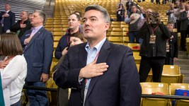 U.S. Senator Cory Gardner. The 2018 Republican State Assembly on the campus of the University of Colorado Boulder, April 14, 2018. (Kevin J. Beaty/Denverite)  copolitics; boulder; colorado; election; politics; kevinjbeaty; denverite;