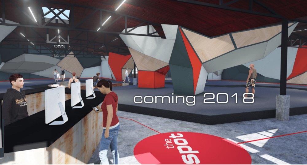 A concept rendering of potential plans for The Spot's new bouldering gym in Denver. (Courtesy The Spot)