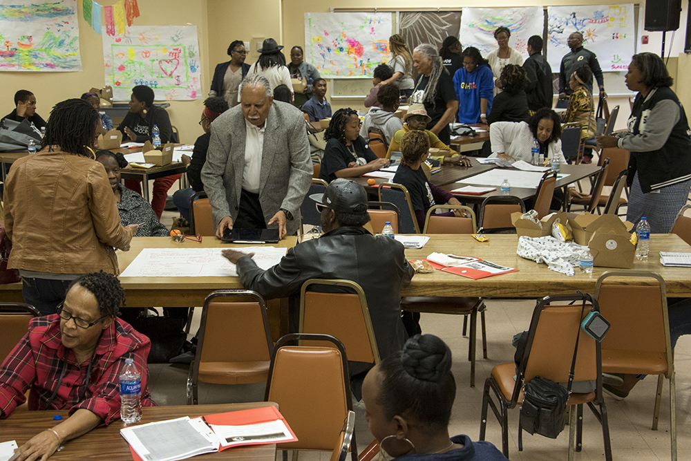 A breakout session during the Black Parent Empowerment Summit at Shorter Community AME Church, May 12, 2018. (Kevin J. Beaty/Denverite)  denver; colorado; denverite; education; shorter community ame church; activism; kevinjbeaty; skyland;