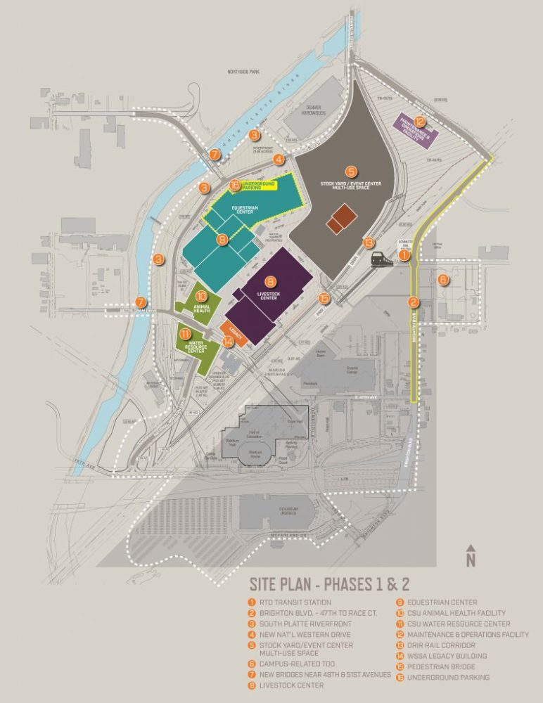 A map of plans for the National Western Center. (Courtesy City and County of Denver)