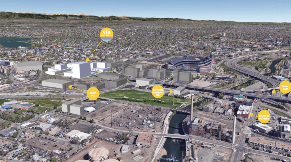 """A depiction of planned adjacent properties showing how """"Via West Colfax"""" would fit in (Courtesy of the West Colfax BID)"""