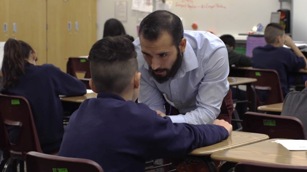 """Alejandro Antonio Fuentes Mena, a teacher with Denver Public Schools and a Dreamer from Chile, in a scene from """"Dreamers,"""" a documentary directed by Dick Alweis. (Courtesy: Dick Alweis)"""