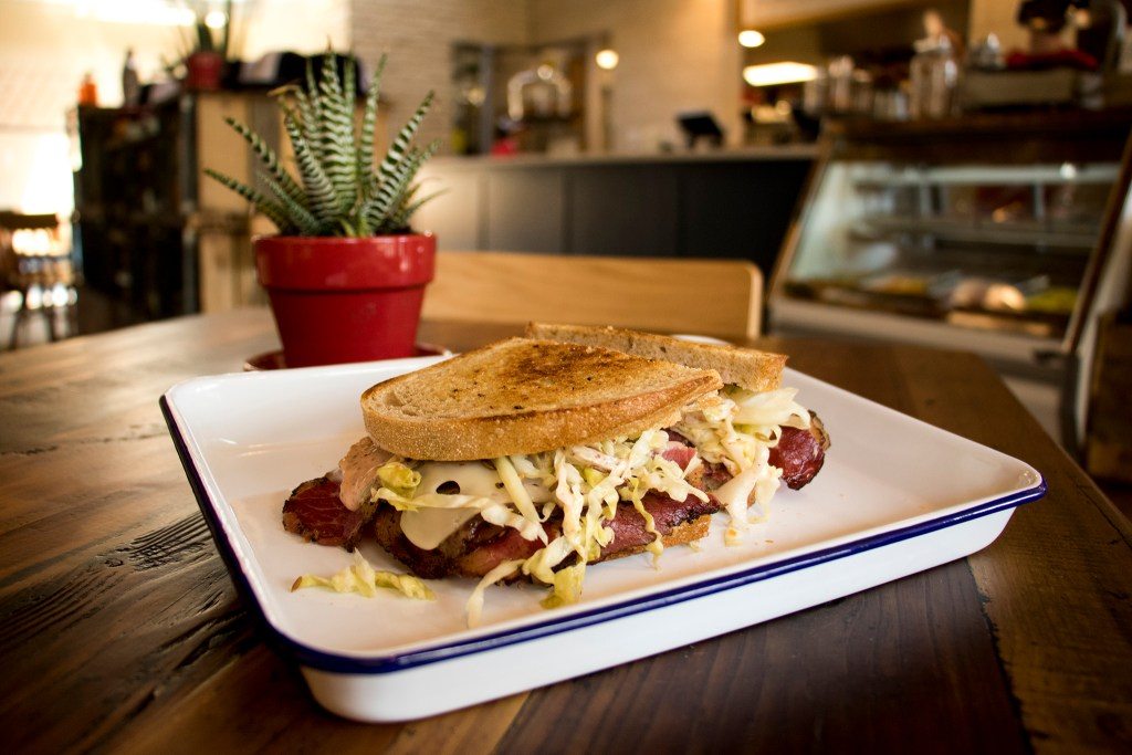 A pastrami reuben available at Leven Deli Co. on 12th Avenue, July 27, 2018. (Kevin J. Beaty/Denverite)