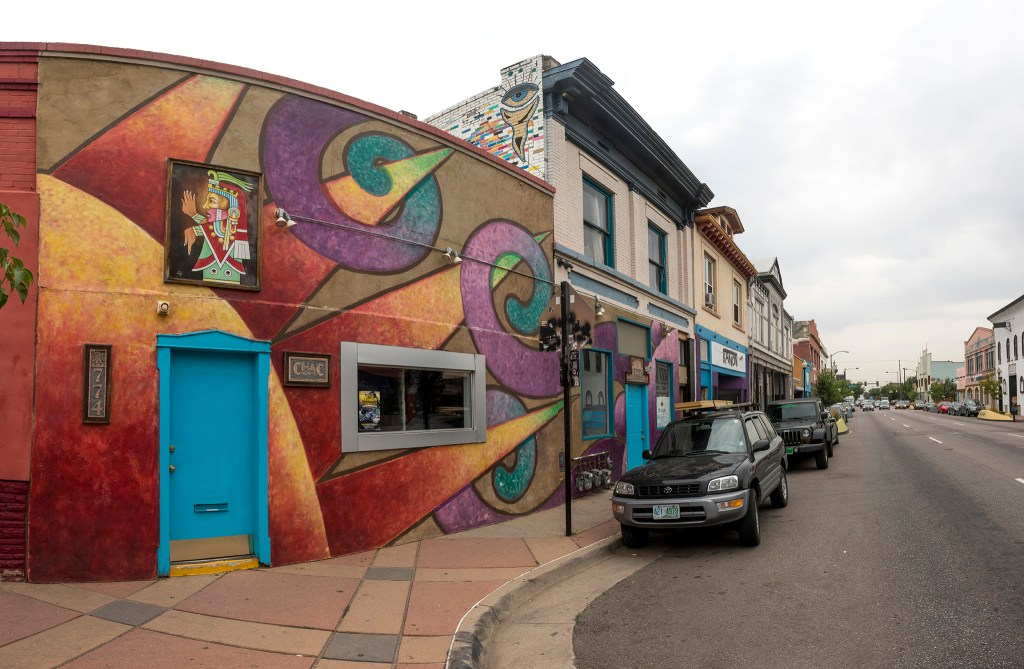 The CHAC Gallery's former home by 8th Avenue on Santa Fe Drive, Aug. 1, 2018. (Kevin J. Beaty/Denverite)