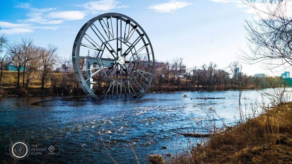 "An illustration of the ""Denver Icon"" water-wheel project proposed for the South Platte River. (Courtesy ClayDean Electric)"