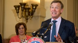 Governor John Hickenlooper announces the start of Lifelong Colorado, Sept. 18, 2018. (Kevin J. Beaty/Denverite)
