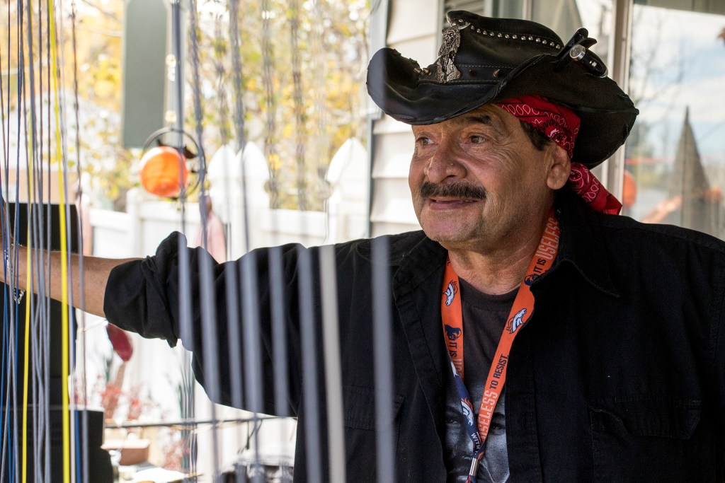 Johnny Lee Sandoval celebrates his 16th year of DIY Halloween horror in 18 years at his Mar Lee home, Oct. 27, 2018. (Kevin J. Beaty/Denverite)