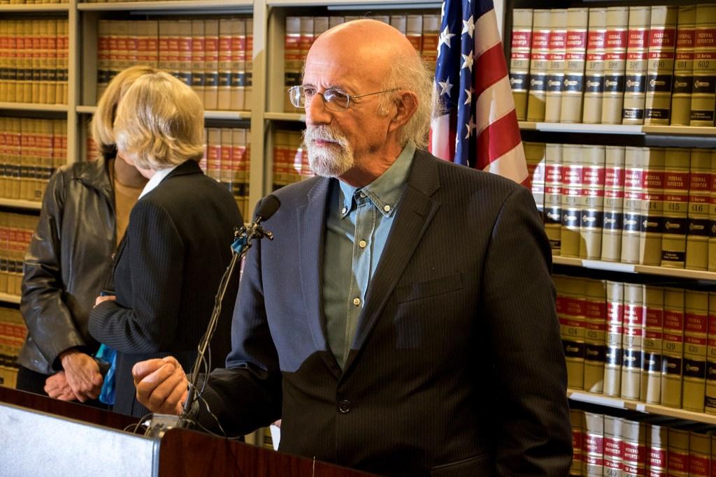 City Council member Paul Kashmann speaks at a press conference inside the Denver District Attorney office at the Wellington Webb Municipal Building, Nov. 20. 2018. (Kevin J. Beaty/Denverite)