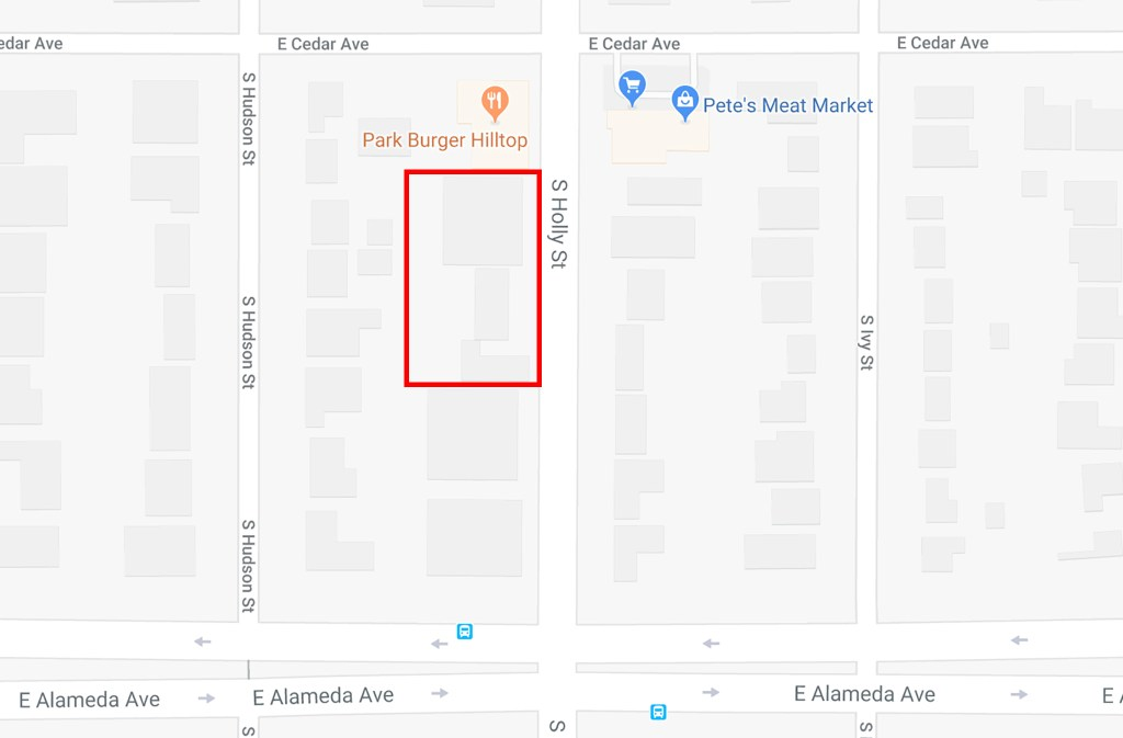 A few parcels on Holly Street that's up for rezoning.