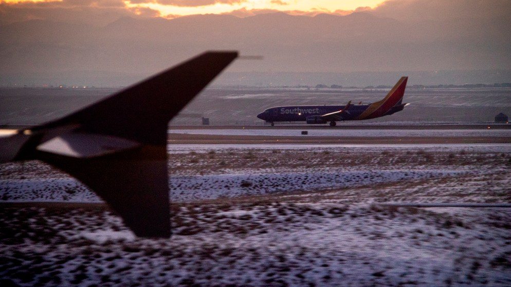 Planes on the tarmac at Denver International Airport, Feb. 25, 2019. (Courtesy: Kevin J. Beaty)