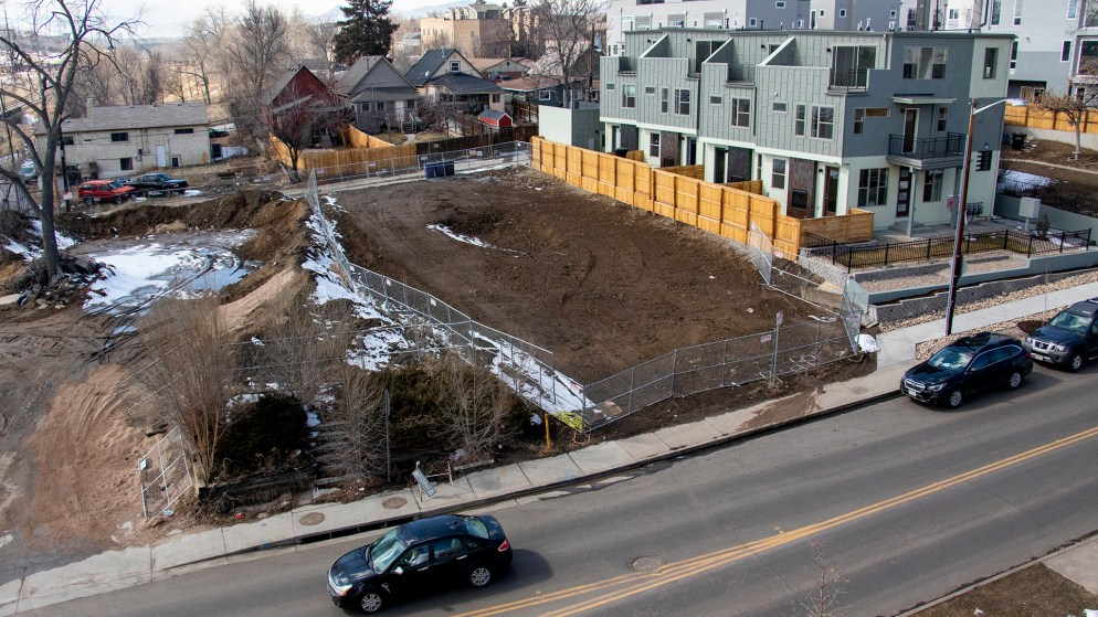 New development in Denver's West Colfax neighborhood, March 7, 2019. (Kevin J. Beaty/Denverite)