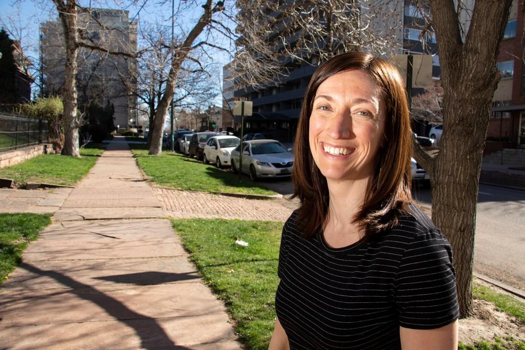 Sarah Showalter, Denver's citywide planning supervisor, poses for a portrait. April 19, 2019. (Kevin J. Beaty/Denverite)