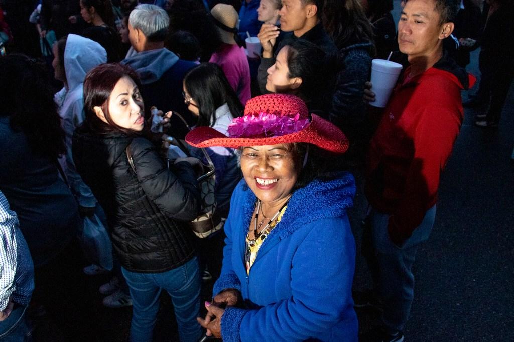 A woman named Noaom smiles. Little Saigon Night Market. Federal Boulevard, June 21, 2019. (Kevin J. Beaty/Denverite)
