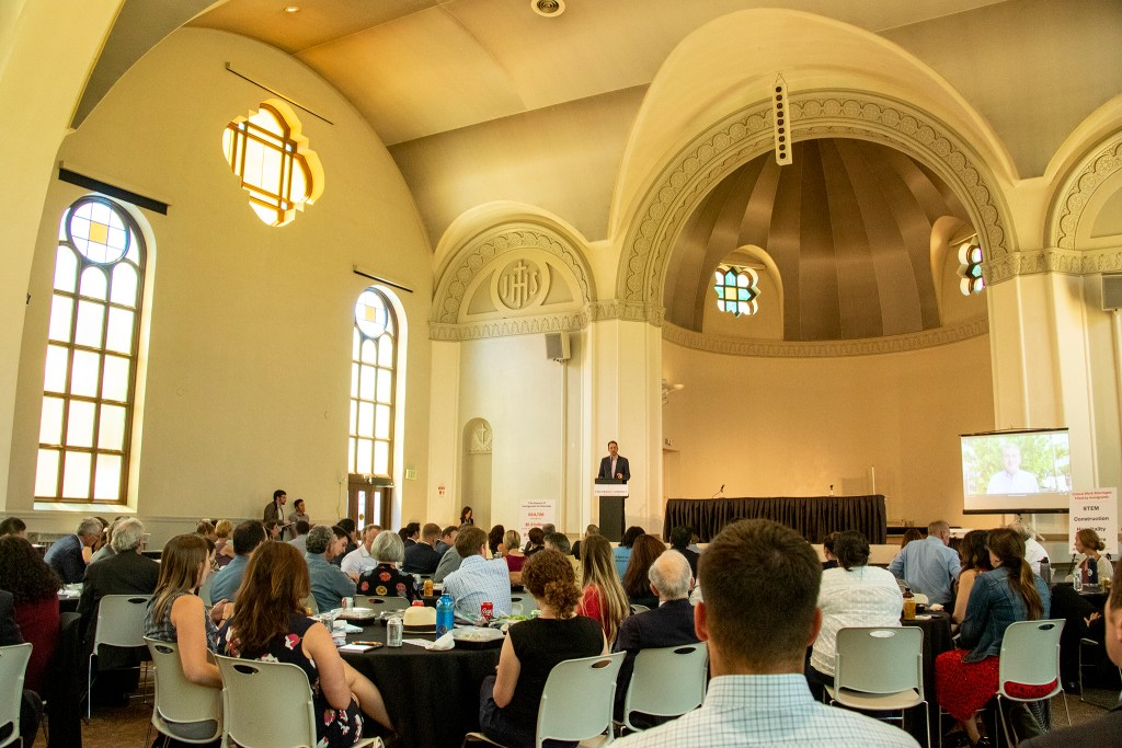 Colorado Attorney General Phil Weiser speaks during a discussion on immigration at St. Cajetan's church on the Auraria Campus, June 28, 2019. (Kevin J. Beaty/Denverite)