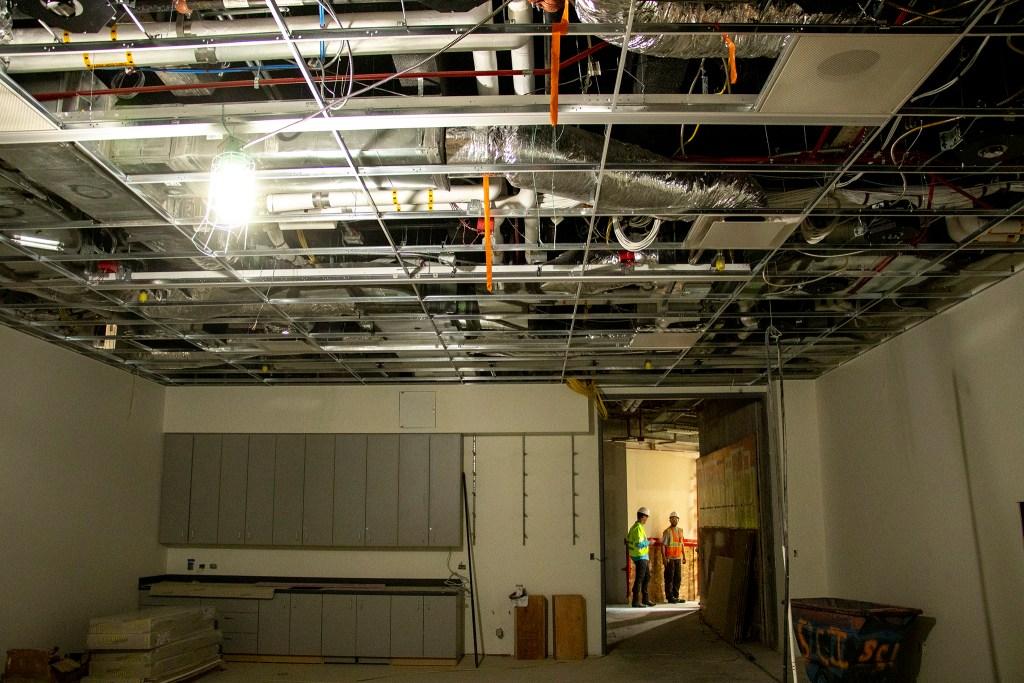 Inside the Denver Art Museum's new Martin Building during construction, Aug. 8, 2019. (Kevin J. Beaty/Denverite)