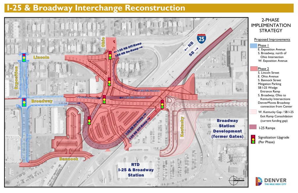 A look at the proposed I-25 and Broadway project. (Courtesy of Denver Public Works)