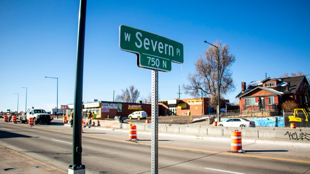 Severn Place, just east of Federal Boulevard. Nov. 12, 2019. (Kevin J. Beaty/Denverite)