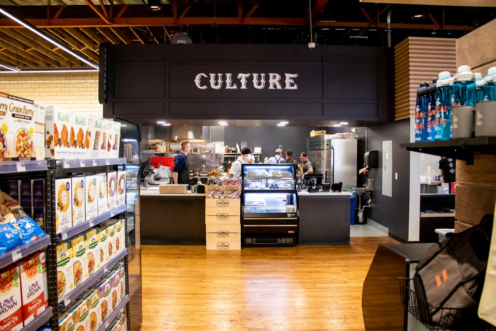 Culture Meat and Cheese's stand at Leevers Locavore Northside on 38th Avenue, Nov. 20, 2019. (Kevin J. Beaty/Denverite)