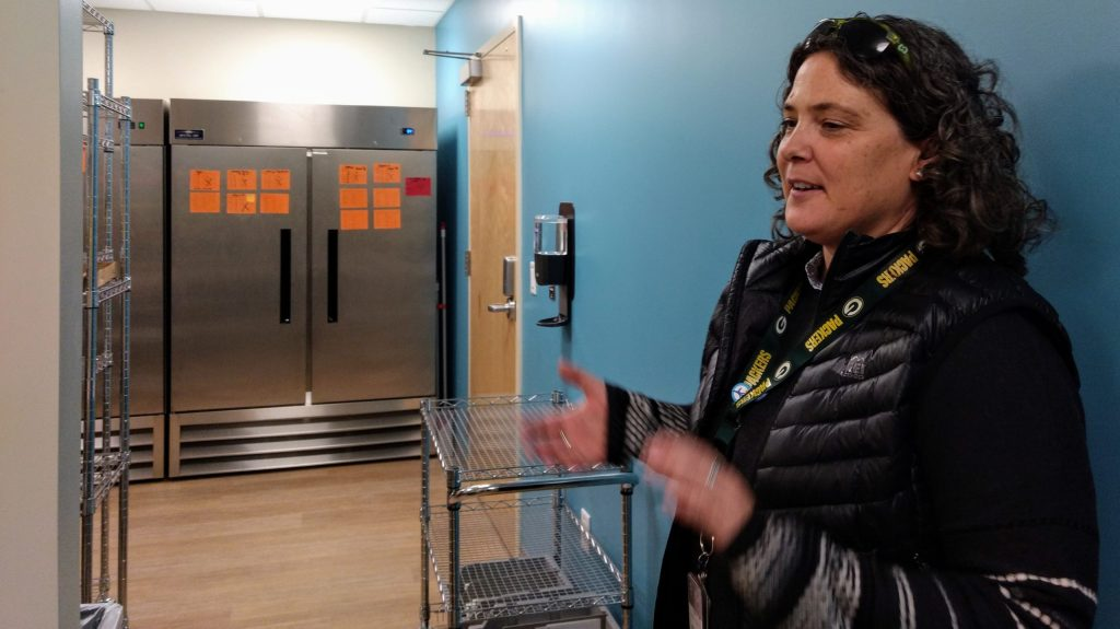 Eve Kutchman at the Children's Colorado Health Pavilion on Dec.5, 2019. (Donna Bryson/Denverite)
