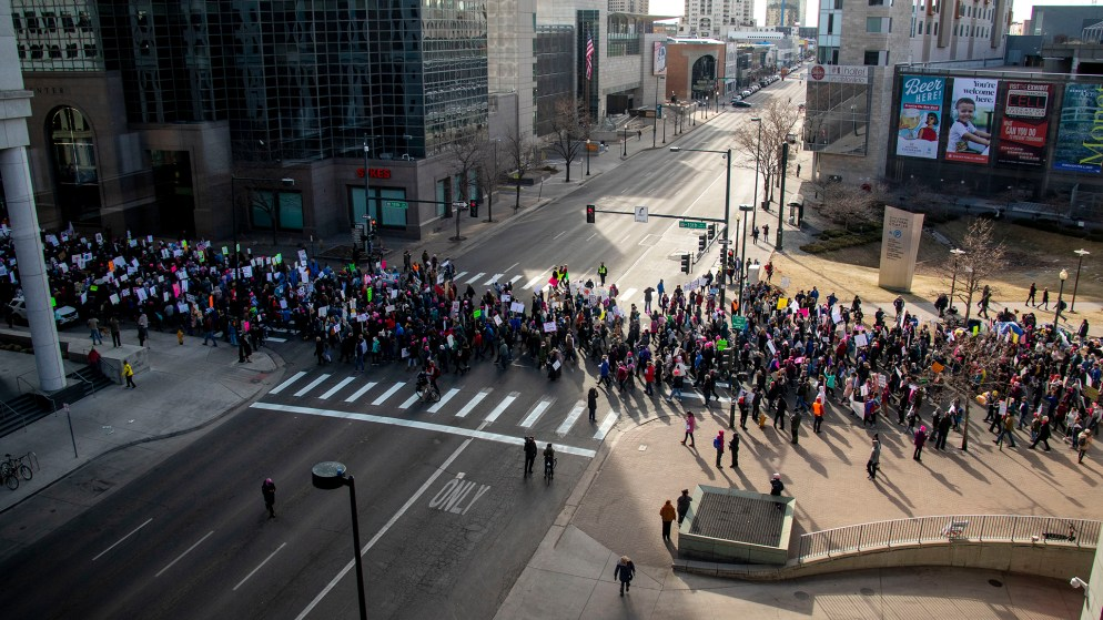 Denver Womxn's March, Jan. 18, 2020. (Kevin J. Beaty/Denverite)