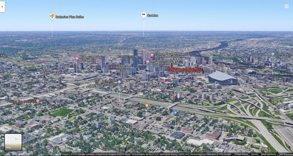 Minneapolis. (Source: Google Maps)