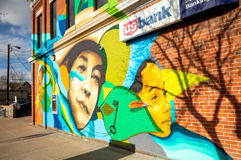 A new mural on  27th Street dedicated to Dr. Justina Ford. Feb. 18, 2020. (Kevin J. Beaty/Denverite)