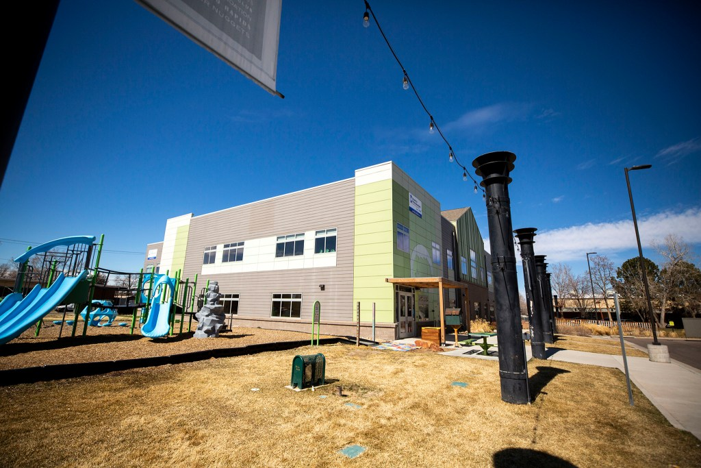 The Center for African American Health whose land in Northeast Park Hill is owned by the Urban Land Conservancy, March 11, 2020. (Kevin J. Beaty/Denverite)