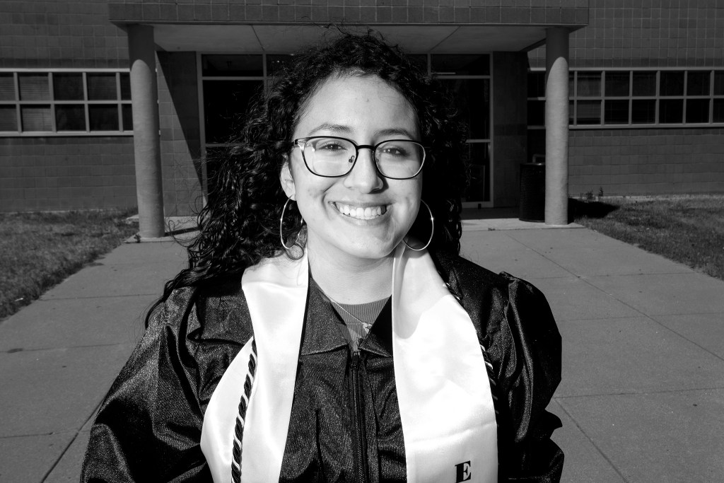 Alicia Almodovar. A graduation celebration at Martin Luther King Jr. Early College, Green Valley Ranch. May 8, 2020. (Kevin J. Beaty/Denverite)
