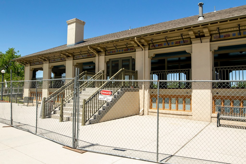 The Washington Park boathouse is not open to the public. May 21, 2020. (Kevin J. Beaty/Denverite)