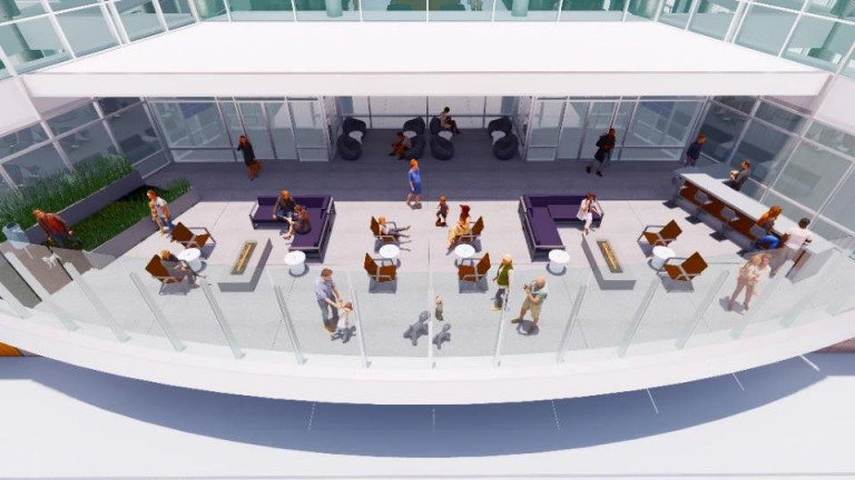 A rendering of the gate expansion project at DIA. (Courtesy, Denver International Airport)