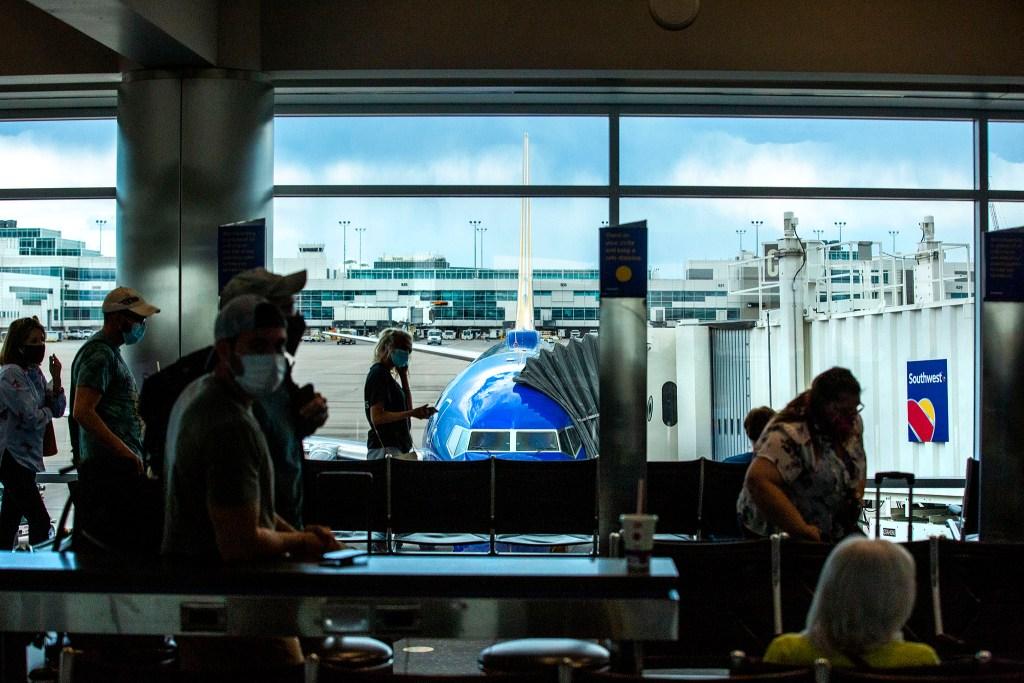 Denver International Airport's C concourse. July 7, 2020.